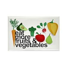 Eat Fruits & Vegetables Rectangle Magnet (10 p