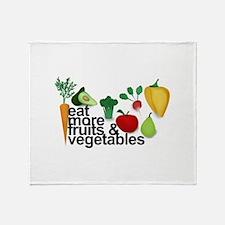 Eat Fruits & Vegetables Throw Blanket
