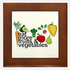 Eat Fruits & Vegetables Framed Tile