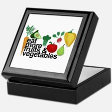 Eat Fruits & Vegetables Keepsake Box