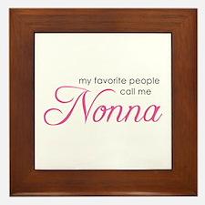 Favorite People Call Me Nonna Framed Tile