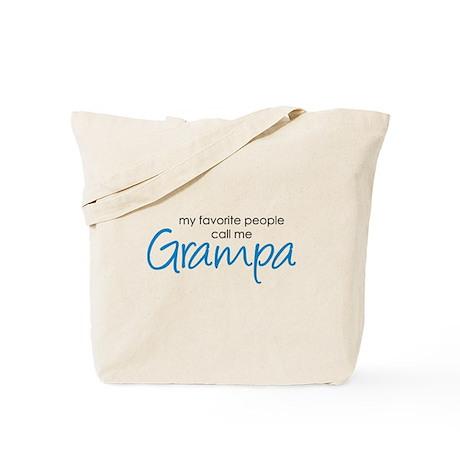 Favorite People Call Me Grampa Tote Bag