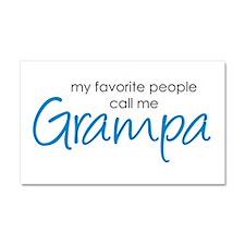 Favorite People Call Me Grampa Car Magnet 20 x 12