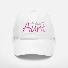 Favorite People Call Me Aunt Baseball Baseball Cap
