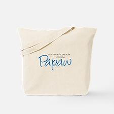 Favorite People Call Me Papaw Tote Bag