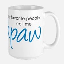 Favorite People Call Me Papaw Large Mug