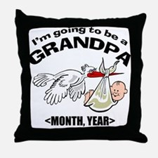 Funny Grandpa To Be Personalized Throw Pillow