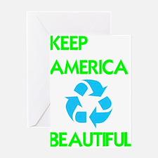 KEEP AMERICA BEAUTIFUL Greeting Card