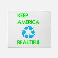 KEEP AMERICA BEAUTIFUL Throw Blanket