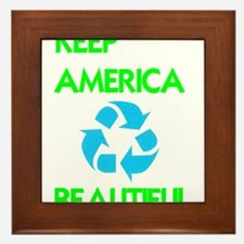 KEEP AMERICA BEAUTIFUL Framed Tile