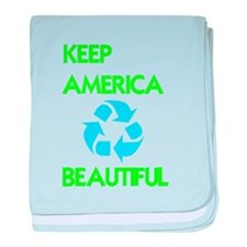 KEEP AMERICA BEAUTIFUL baby blanket