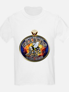 USN Navy Seabees Eagle T-Shirt