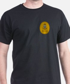 Command Master Chief<BR> Black T-Shirt 2