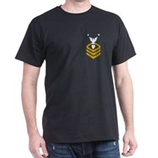 Command Master Chief<BR> Black T-Shirt 1