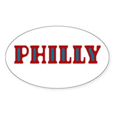 PHILLY Oval Decal