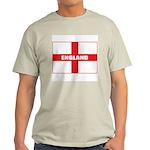 England Flag Ash Grey T-Shirt
