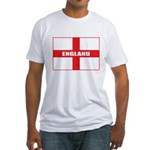 England Flag Fitted T-Shirt