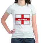 England Flag Jr. Ringer T-Shirt