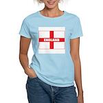 England Flag Women's Pink T-Shirt