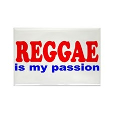 Reggae Is My Passion Rectangle Magnet