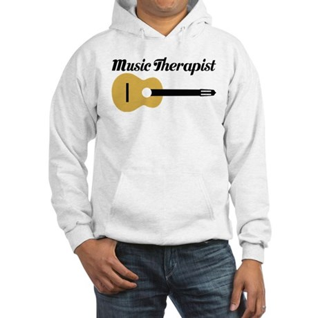 Music Therapist With Guitar Hooded Sweatshirt
