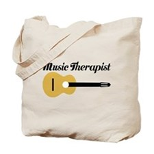 Music Therapist With Guitar Tote Bag