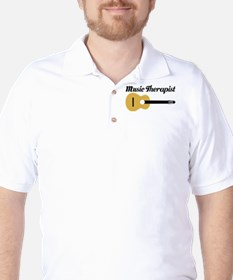 Music Therapist With Guitar Golf Shirt
