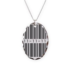 Bar Code 11-11-11 Necklace