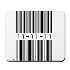 Bar Code 11-11-11 Mousepad