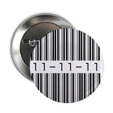 "Bar Code 11-11-11 2.25"" Button"