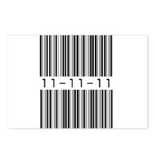 Bar Code 11-11-11 Postcards (Package of 8)