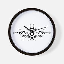 Tribal Taurus Symbol Wall Clock