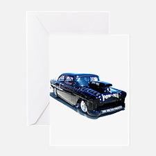 Black POW Classic Car Greeting Card