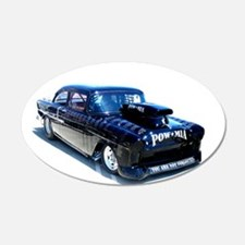 Black POW Classic Car Wall Decal