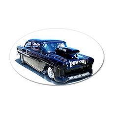 Black POW Classic Car Wall Decal