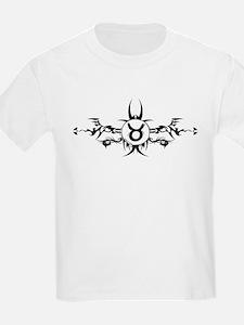 Tribal Taurus Symbol Kids T-Shirt