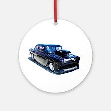 Black POW Classic Car Ornament (Round)