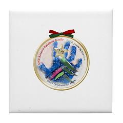 Christmas Angel Tree 2011 Tile Coaster