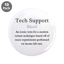 "Tech Support 3.5"" Button (10 pack)"