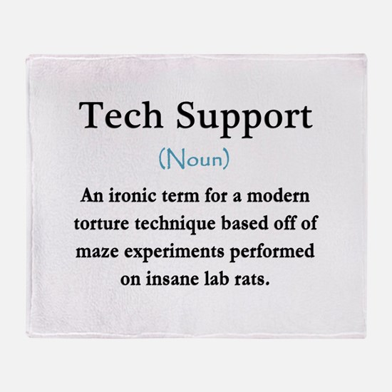 Tech Support Throw Blanket