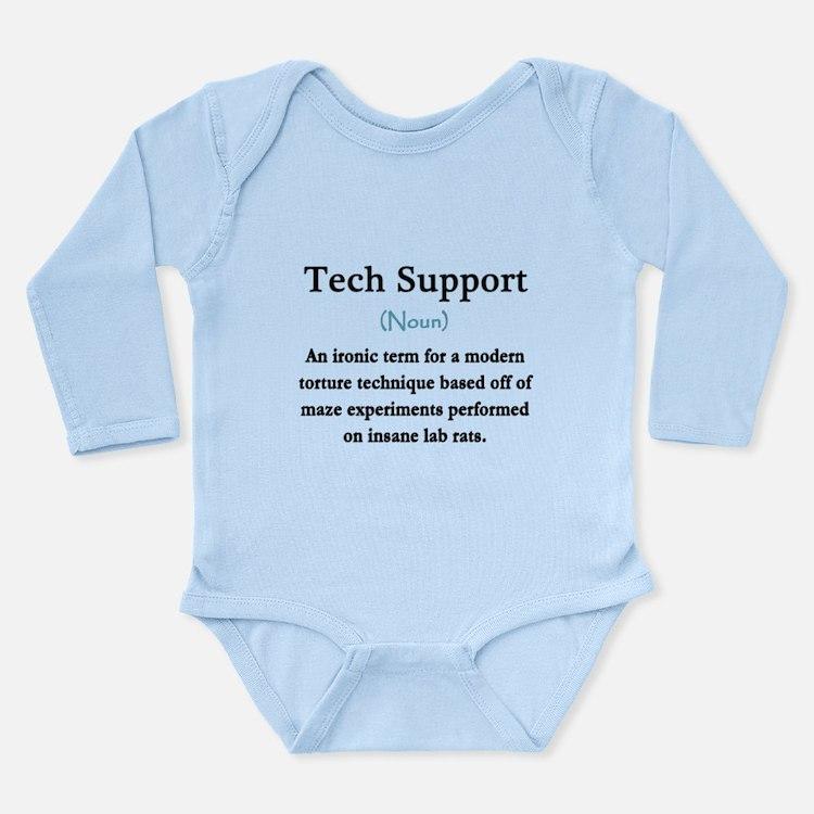 Tech Support Long Sleeve Infant Bodysuit