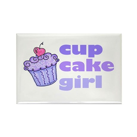 Cupcake girl Rectangle Magnet