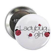 Ladybug girl Button