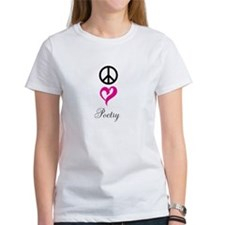 peace, love, poetry Tee