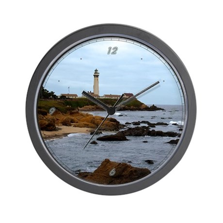 Pigeon Point Rocky Shore Wall Clock