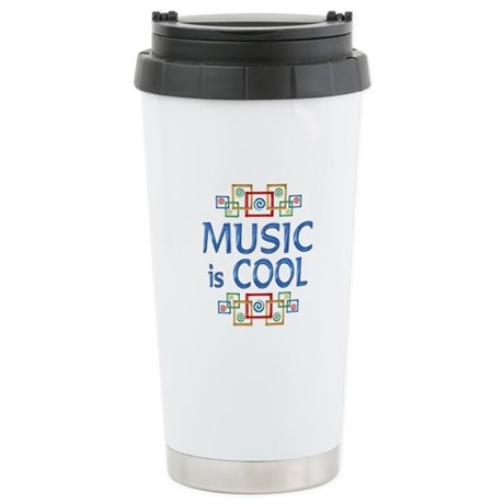 Music is Cool Stainless Steel Travel Mug