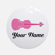 Cute Custom Viola Ornament (Round)