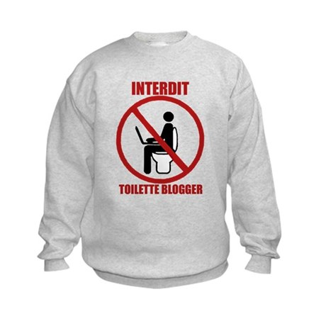 INTERDIT TOILETTE BLOGGER Kids Sweatshirt