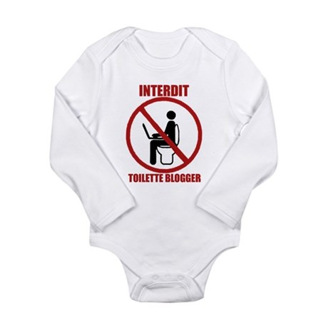 INTERDIT TOILETTE BLOGGER Long Sleeve Infant Bodys