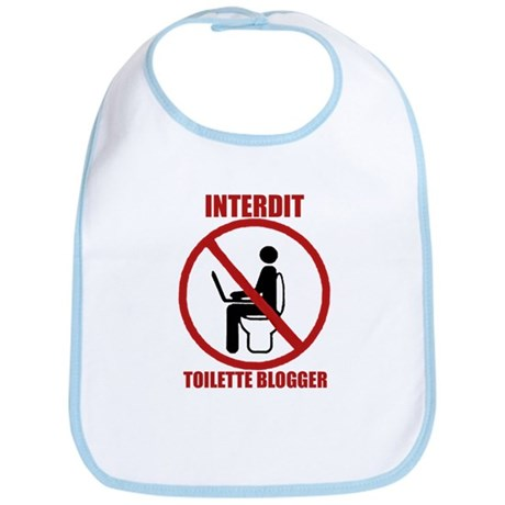 INTERDIT TOILETTE BLOGGER Bib